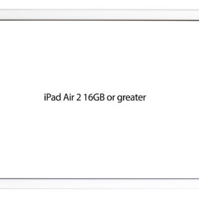 9.7-inch iPad Pro With White Screen – Horizontal